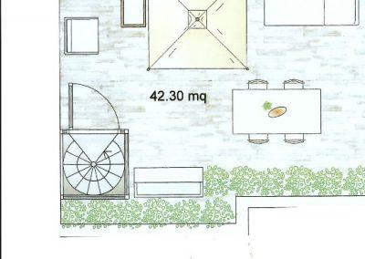 Disegno app. 1 terrazza secondo piano